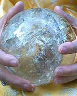 Photo of Share holding one of her awesome crystal ball. Photo © Copyright 2006 Marvelle Thompson & Susan Kullmann