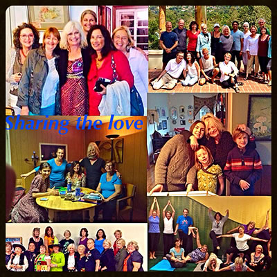 Sharing the love collage with 6 photos of Soothsayer Share Starwas and her friends, clients & family